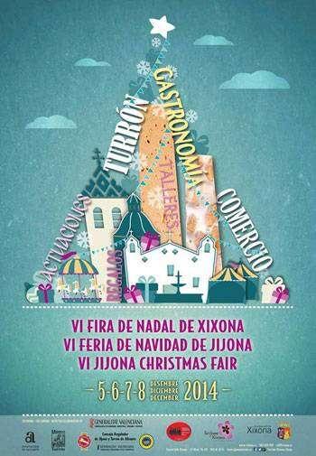 Cartel de la Feria de Navidad y Turrón de Jijona 2014