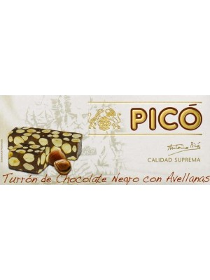 Caja de 24 unidades de Turrón de Chocolate con Avellanas Pico