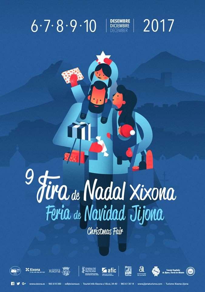 Cartel de la Feria de Navidad Jijona 2017
