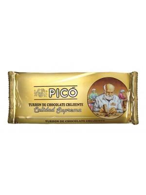 Caja de 24 unidades de Turrón de Chocolate Crujiente Pico 200grs