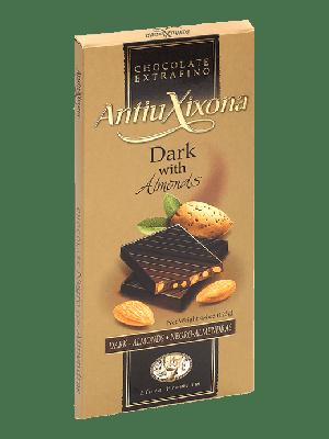 Chocolate Negro con Almendras premium extrafino Antiu Xixona