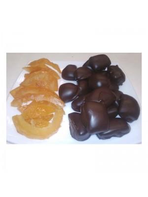 Piel de Limón con Chocolate Negro a granel en formato de 1kg o 5kg.