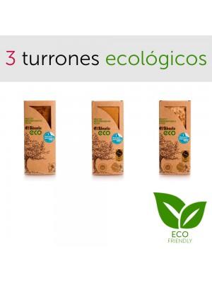 Pack 3 turrones ecológicos Jijona Alicante piedra