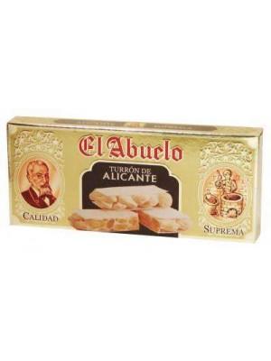 Caja de 24 unidades de Turrón de Alicante (duro) El Abuelo