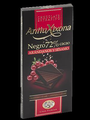Chocolate Negro Antiu Xixona con arandanos