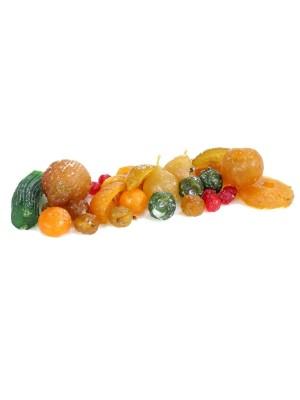 Fruta escarchada, confitada y glaseada