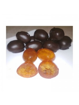 Kumquats con chocolate negro a granel en formato de 1kg o 5kg.