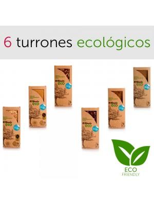 Lote de 6 turrones ecológicos El Abuelo