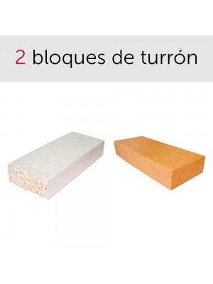Pack de bloques de turrón Jijona y Alicante