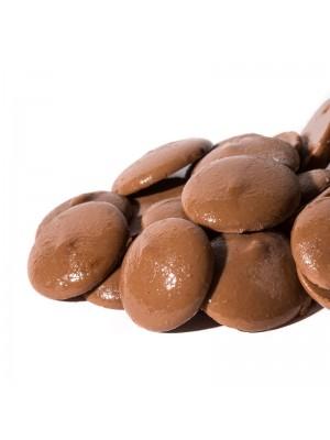 Gotas o pepitas de Chocolate con Leche, bolsa de 1 KG. Cobertura para fundir o cocinar. Antiu Xixona