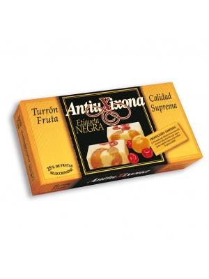 Caja de 12 unidades de Turrón de Fruta Antiu Xixona Etiqueta Negra 250g
