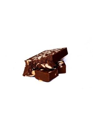Turrón chocolate negro con almendras