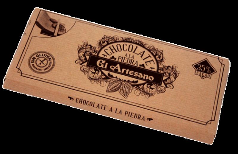 Turron de chocolate a la piedra (a la taza) en barra de 150 gramos