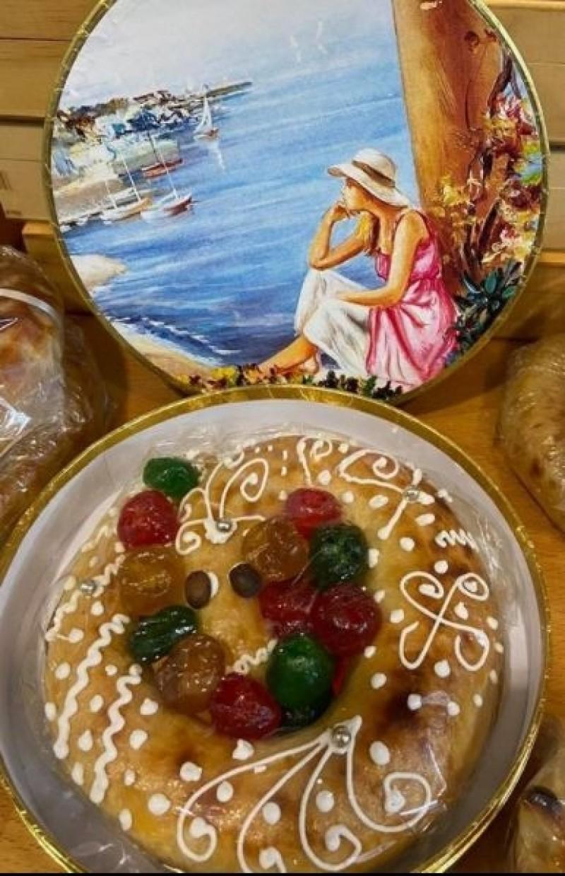 Anguila de Mazapán en caja decorada