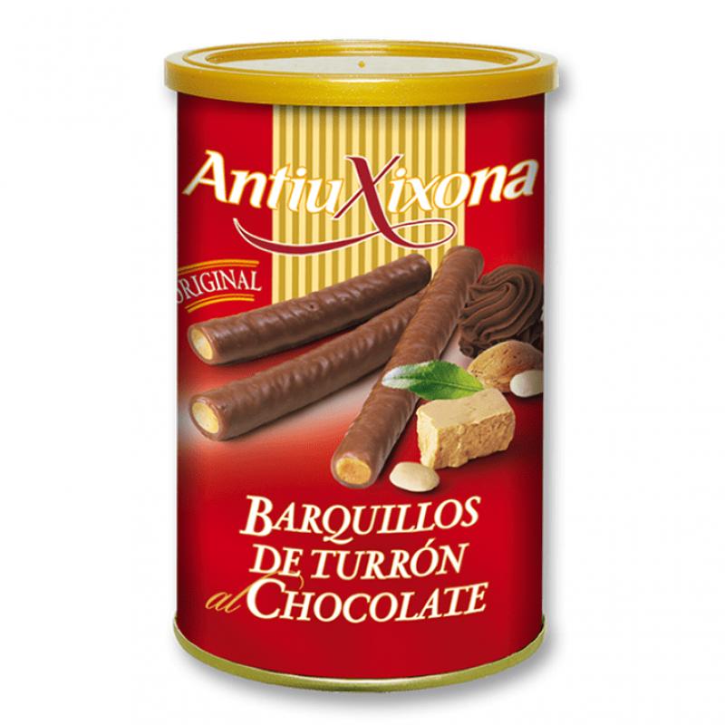 Barquillos de chocolate y turron