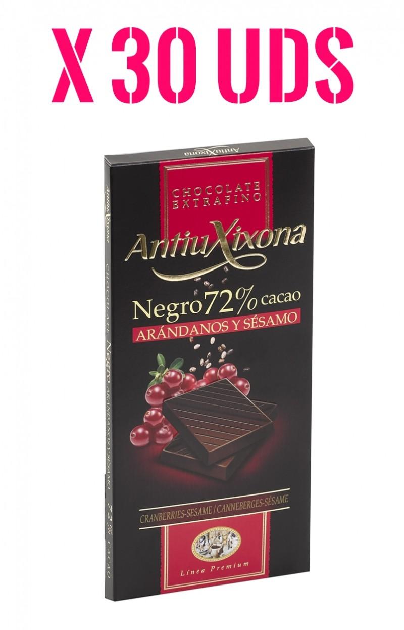 Caja Chocolate Negro Antiu Xixona con arandanos