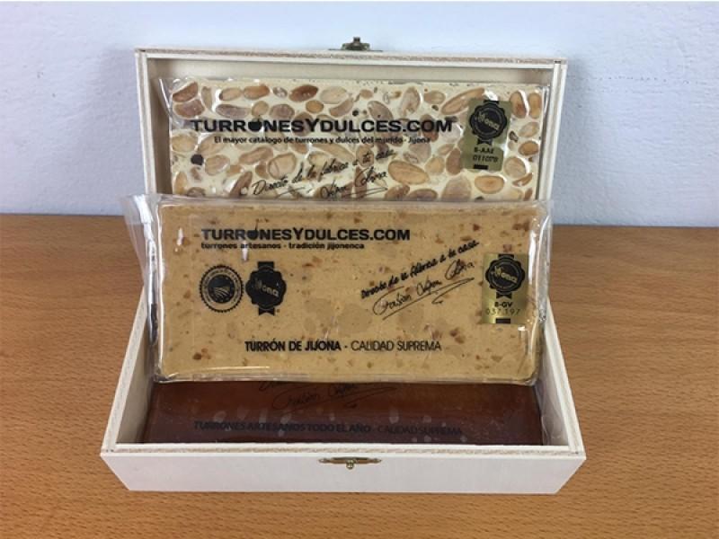 Caja Madera con Tapa para Turrones