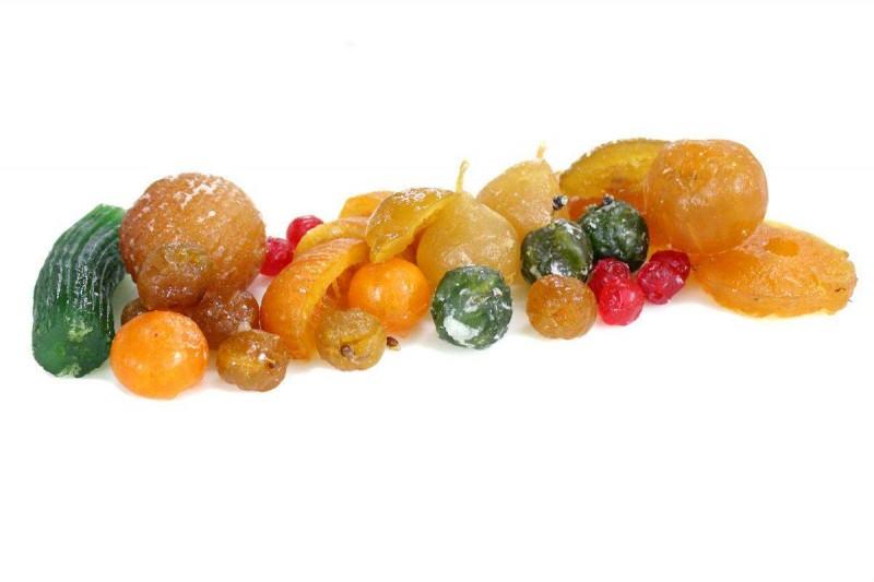 bodegón de fruta escarchada