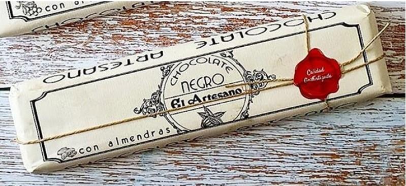 Lingote Chocolate con Almendras 60 cacao El Artesano