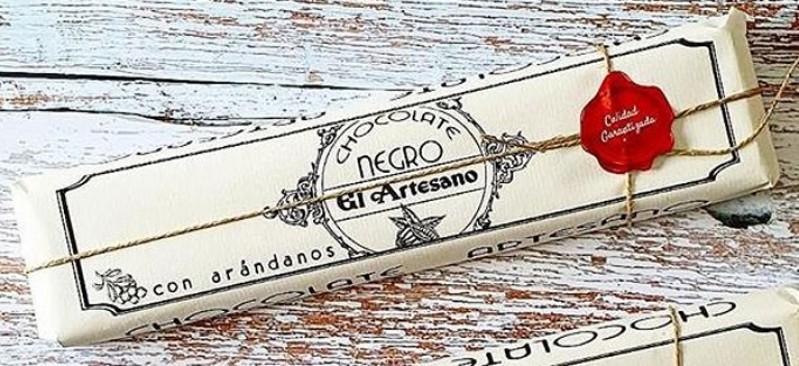 Lingote Chocolate con Arándanos 52 cacao El Artesano