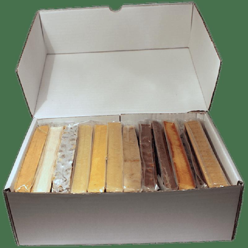 Caja diez turrones más regalo blandos y duros