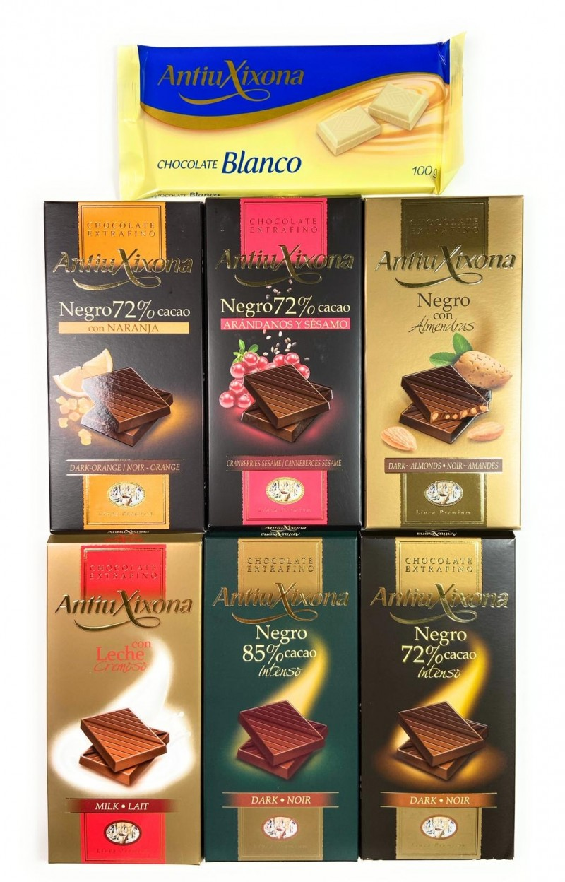 Lote chocolates Antiu Xixona