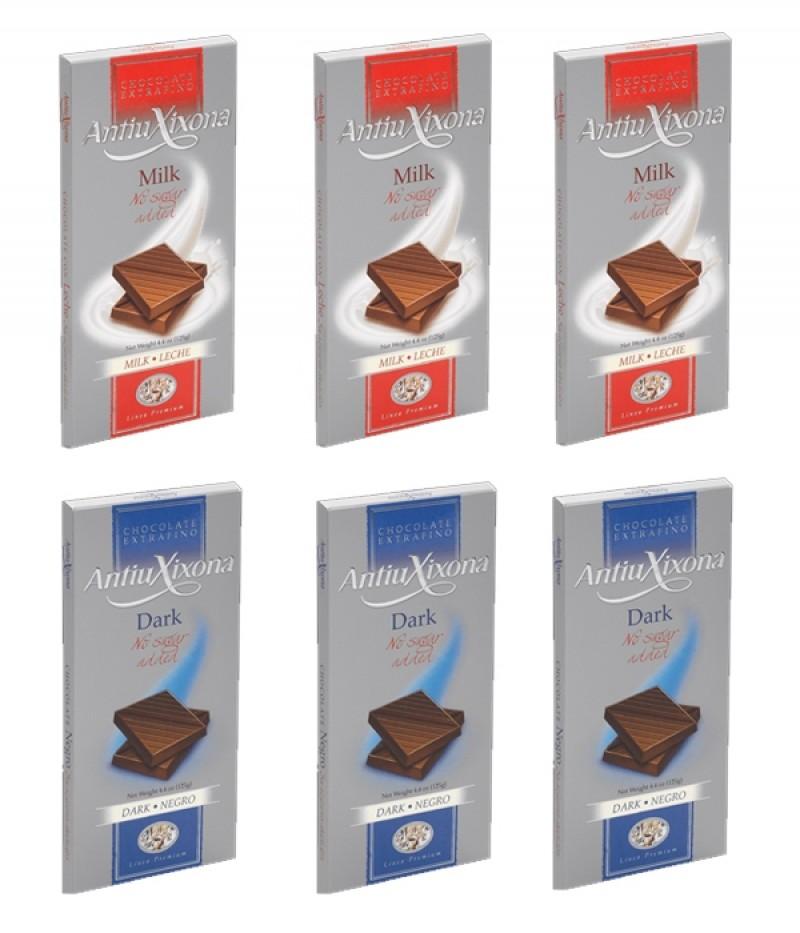 Lote de Chocolates sin azúcar