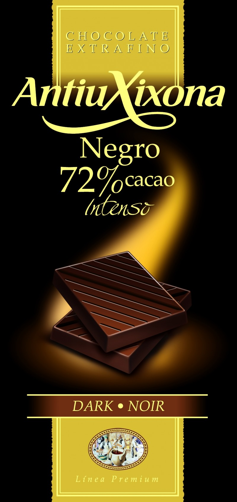Chocolate Negro 72% cacao Mercadona