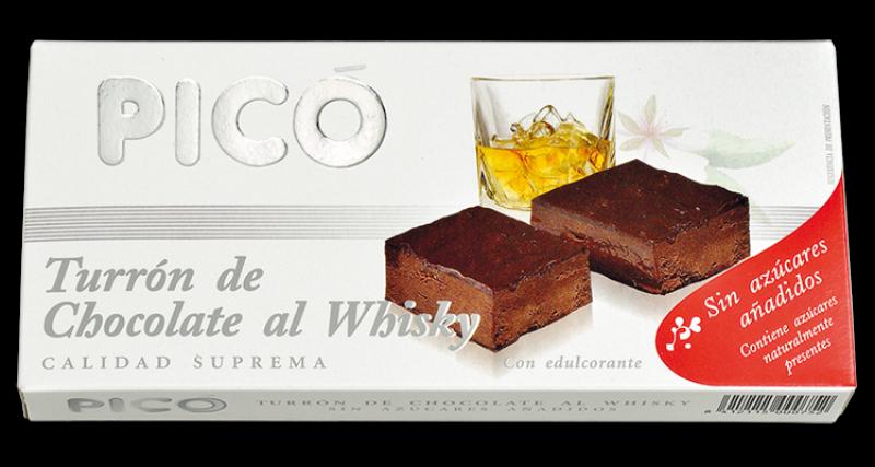 Turrón de Chocolate al Whsky Sin azúcar