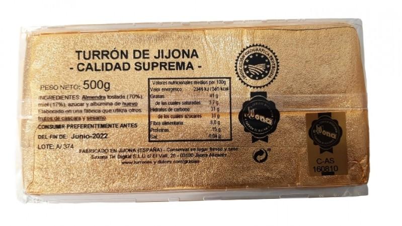 Turrón de Jijona 500 gramos