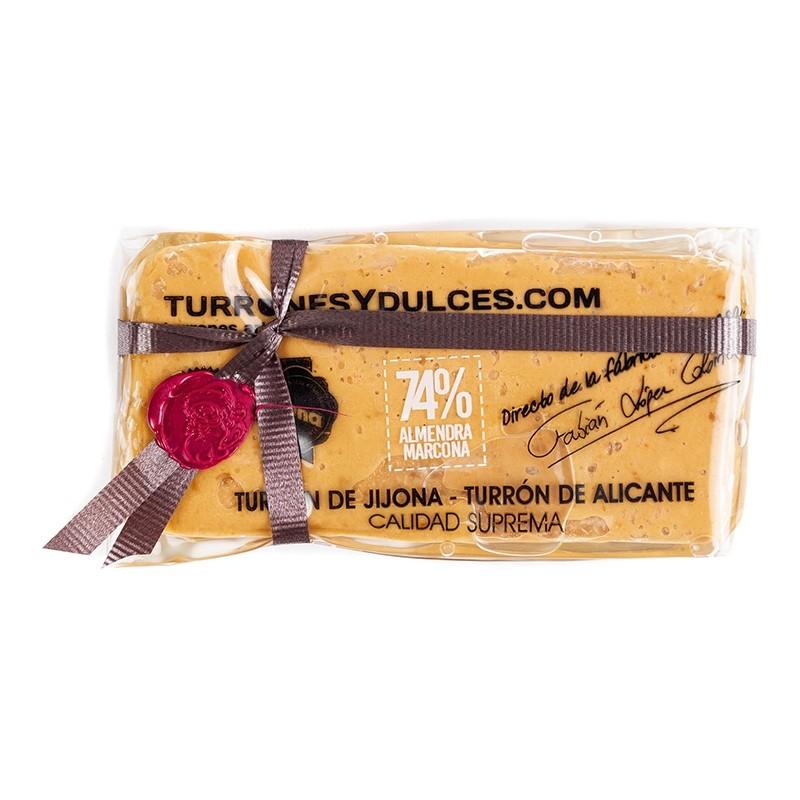 Turron de Jijona 74% Almendra Marcona