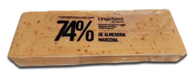 Turrón blando en Barra Catalana 74% Almendra
