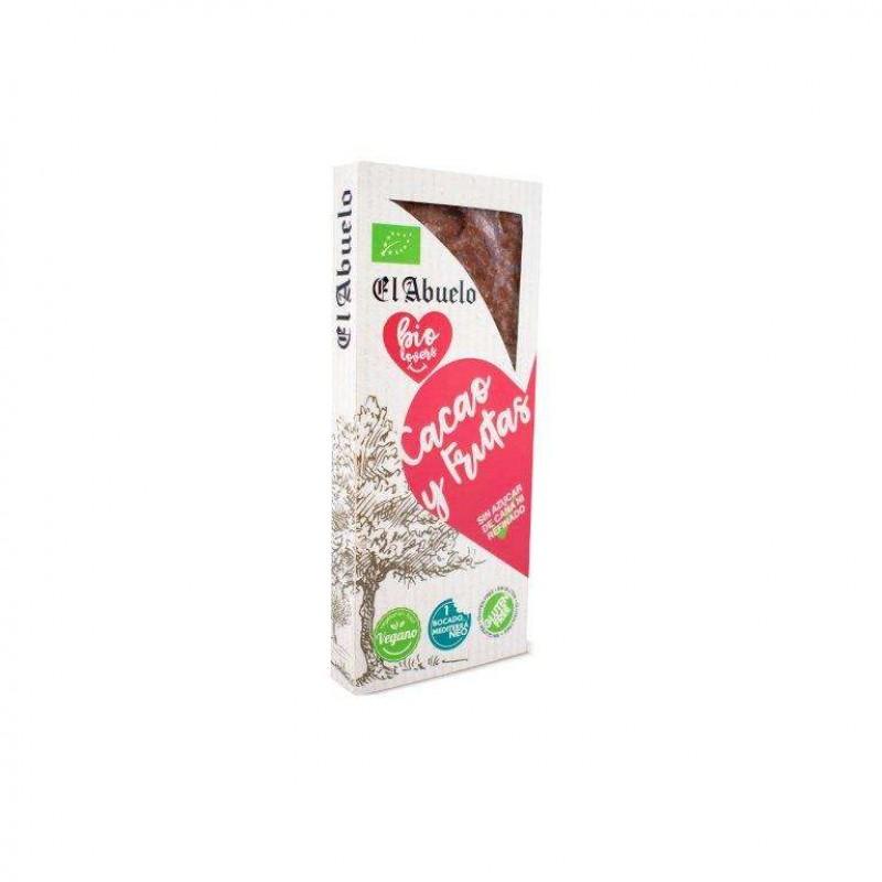 Turrón de Cacao y Frutas Ecológico El Abuelo Bio Lovers