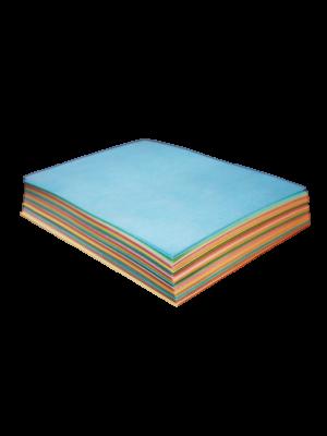 Obleas de color rectangular acabado liso 5 colores