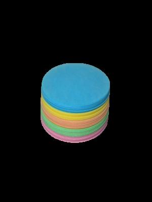 Obleas de color circulares acabado liso 5 colores
