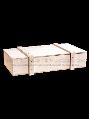 Turrón Espagnol Artisanal a la Pierre - boîte en bois 300 g