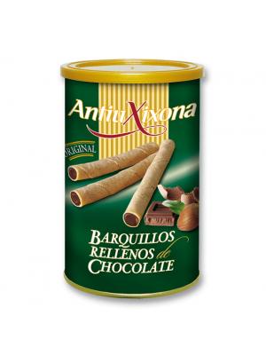Caja de 12 latas de Barquillos Rellenos de Chocolate