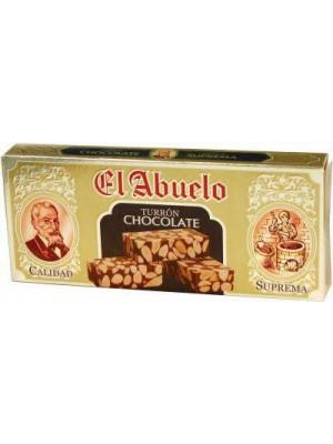 Caja de 24 unidades de Turrón de Chocolate con Almendras El Abuelo