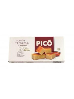 Caja de 12 unidades de Turrón de Crema Catalana Pico 200 grs