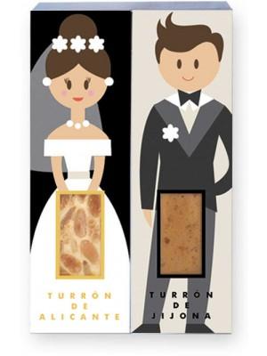 Porciones de turrón individual para bodas
