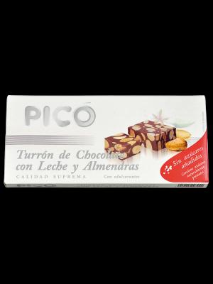 Turrón chocolate con almendra sin azúcar