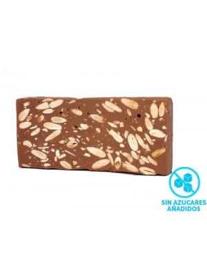 Nougat Chocolat c / amande. SANS SUCRE