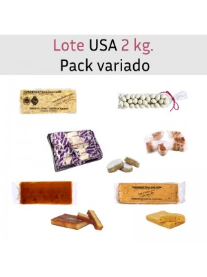 Lote especial USA 2 kg. Pack de turrones variados