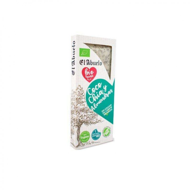 Comprar Turrón de Coco y Chía Ecológico 200g El Abuelo Bio Lovers