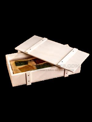 Turrón a la Piedra Artesano – caja de madera 300g El Abuelo