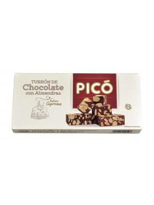 Caja de 24 unidades de Turrón de Chocolate con Almendras Pico 200 grs
