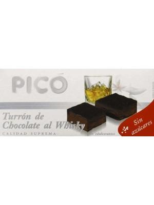 Caja de 10 unidades de Turrón de Chocolate al Whisky Pico Sin Azúcares Añadidos 200grs