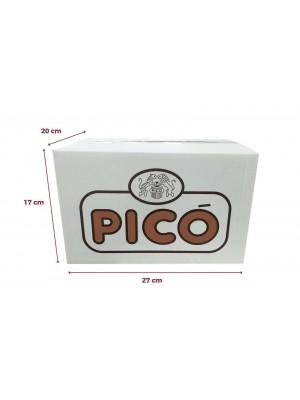 Caja de 12 unidades de Turrón de Chocolate con Almendras Pico Sin Azúcares Añadidos 200grs