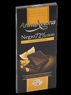 Chocolate Antiu Xixona con Naranja