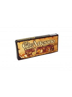 turron-de-chocolate-con-almendras-200-gr-calidad suprema-el-artesano